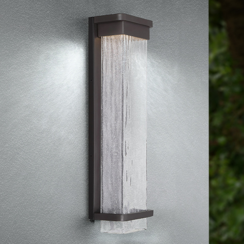 Modern Forms by WAC Lighting Modern Forms Vitrine Bronze LED Outdoor Wall Light 3000K 623LM WS-W32521-BZ