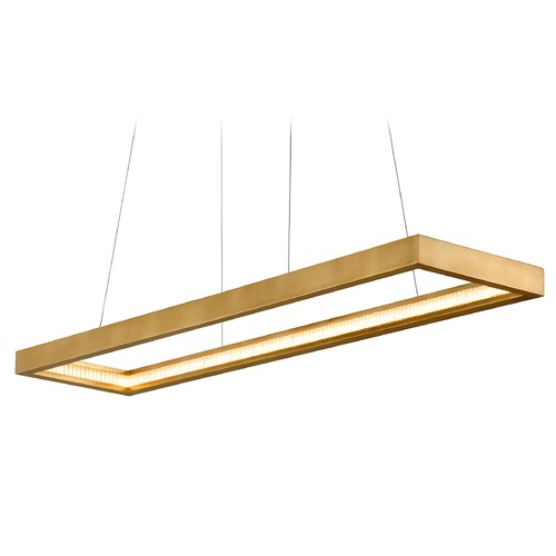 Corbett Lighting Corbett Lighting Jasmine Gold Leaf LED Pendant Light with Rectangle Shade 284-51