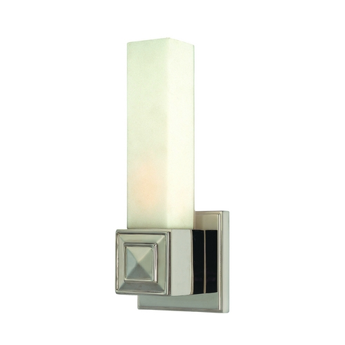 Hudson Valley Lighting Sconce with White Glass in Polished Nickel Finish 1351-PN