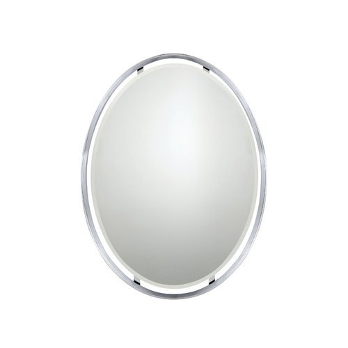 Quoizel Lighting Uptown Ritz Oval 26-Inch Quoizel Mirror UPRZ43426C