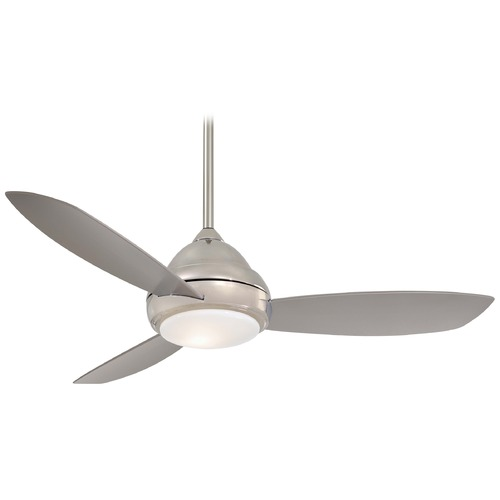 Minka Aire Fans Modern Ceiling Fan with Light with White Glass F516-PN