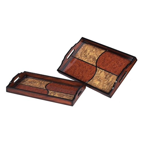 Sterling Lighting Serving Trays in Rust / Gold Finish - Set of Two 118-004