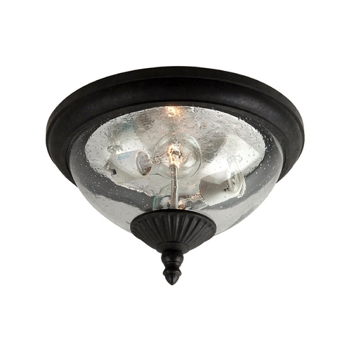 Sea Gull Lighting Close To Ceiling Light with Clear Glass in Oxford Bronze Finish 88068-746