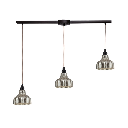 Elk Lighting Multi-Light Pendant Light with Mercury Glass and 3-Lights 46008/3L