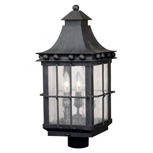 Elk Lighting Post Light with Clear Glass in Espresso Finish 8453-E