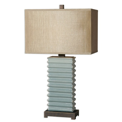 Uttermost Lighting Uttermost Lupara Crackled Blue Lamp 26466-1