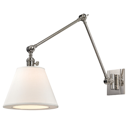 Hudson Valley Lighting Hudson Valley Lighting Hillsdale Polished Nickel Swing Arm Lamp 6234-PN