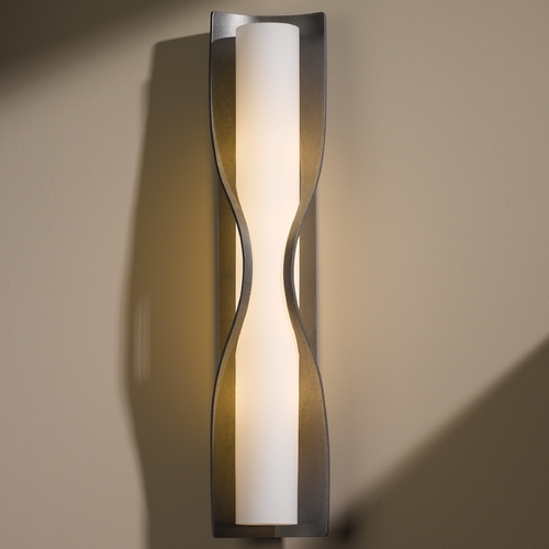Hubbardton Forge Lighting Hubbardton Forge Lighting Dune Burnished Steel Sconce 204795-08-G347