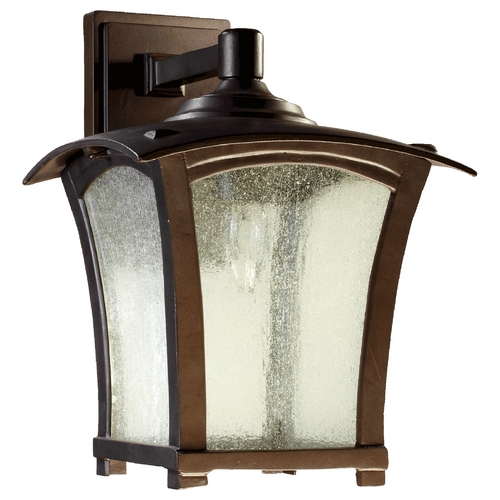 Quorum Lighting Quorum Lighting Gable Oiled Bronze Outdoor Wall Light 7510-9-86