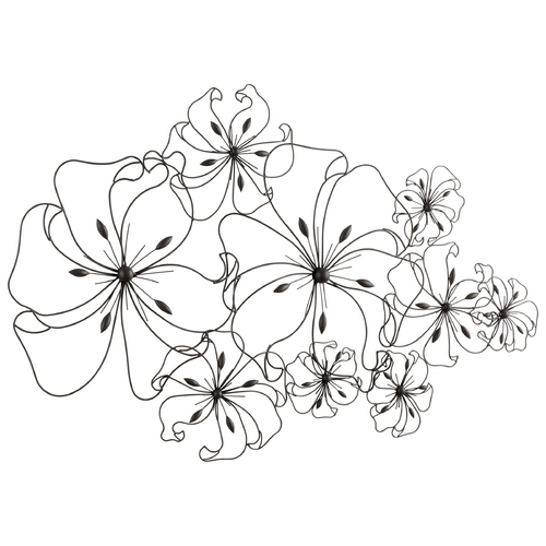 Cyan Design Cyan Design Flower Fancy Graphite Wall Art 05833