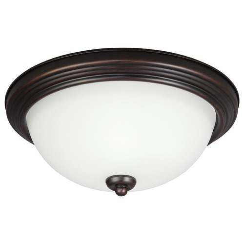 Sea Gull Lighting Sea Gull Lighting Ceiling Flush Mount Burnt Sienna LED Flushmount Light 7726491S-710