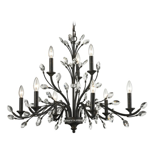 Elk Lighting Elk Lighting Crystal Branches Burnt Bronze Chandelier 11776/6+3