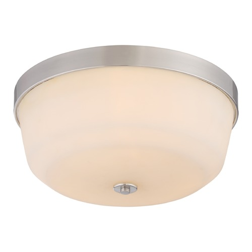 Nuvo Lighting Nuvo Lighting Laguna Brushed Nickel Flushmount Light 60/5824