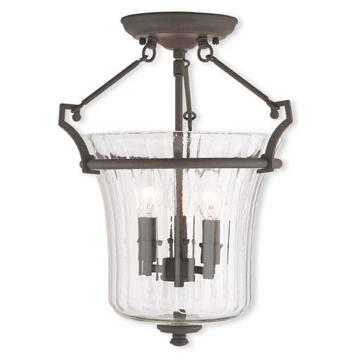 Livex Lighting Livex Lighting Cortland Bronze Semi-Flushmount Light 50923-07