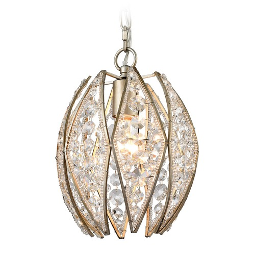Elk Lighting Elk Lighting Kumbaya Aged Silver Mini-Pendant Light 11876/1