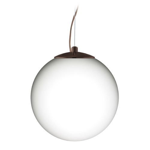 Besa Lighting Besa Lighting Callisto Bronze LED Pendant Light with Globe Shade 1KX-432907-LED-BR
