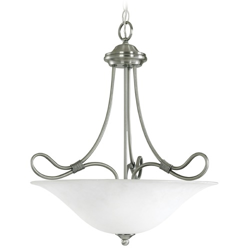 Kichler Lighting Kichler Pendant Light with White Glass in Antique Pewter Finish 3356AP