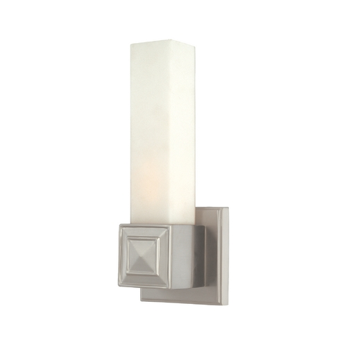 Hudson Valley Lighting Sconce with White Glass in Satin Nickel Finish 1351-SN