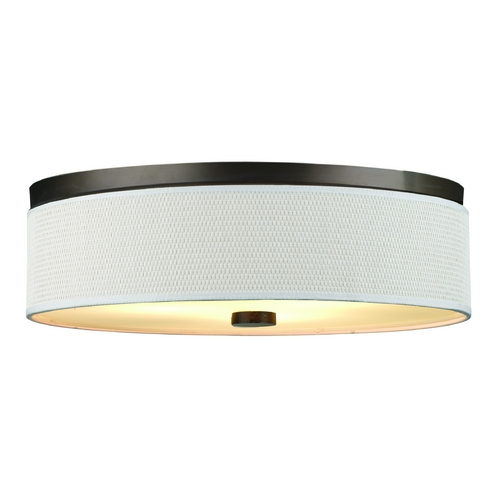 Philips Lighting Modern Flushmount Light with White Shade in Sorrel Bronze Finish F615520