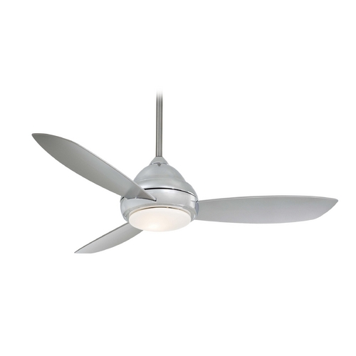Minka Aire Modern Ceiling Fan with Light with White Glass F517-PN