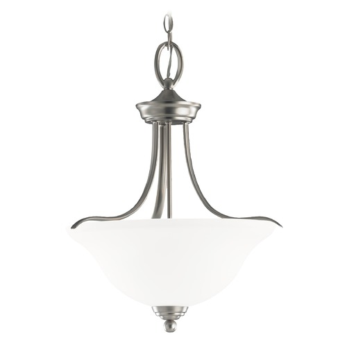 Sea Gull Lighting Sea Gull Lighting Wheaton Brushed Nickel Pendant Light with Bowl / Dome Shade 65626-962