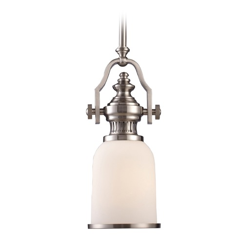 Elk Lighting Elk Lighting Chadwick Satin Nickel LED Mini-Pendant Light with Bowl / Dome Shade 66122-1-LED