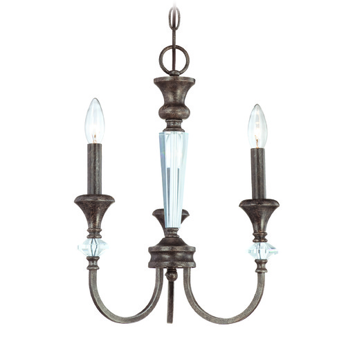 Craftmade Lighting Craftmade Boulevard Mocha Bronze, Silver Accents Mini-Chandelier 26733-MB
