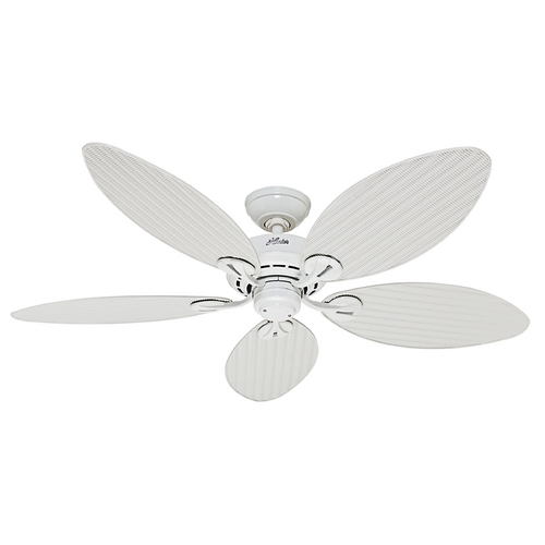 Hunter Fan Company Hunter Fan Company Bayview White Ceiling Fan Without Light 54097