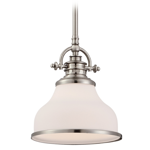 Quoizel Lighting Quoizel Grant Brushed Nickel Mini-Pendant Light GRT1508BN