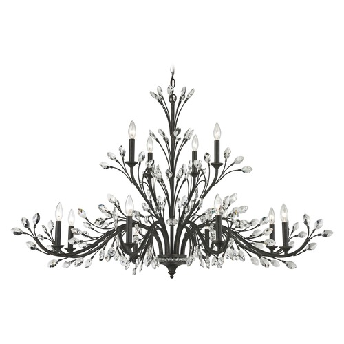 Elk Lighting Elk Lighting Crystal Branches Burnt Bronze Chandelier 11777/8+4
