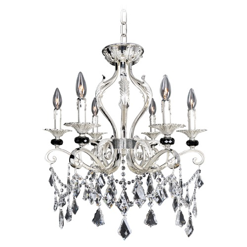 Allegri Lighting Donizetti 6 Light Crystal Chandelier / Convertible Flush Mount 025141-017-FR001