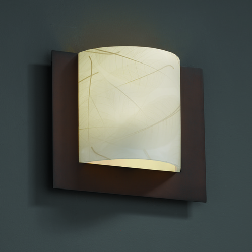 Justice Design Group Justice Design Group Framed Family Dark Bronze Sconce 3FRM-5560-LEAF-DBRZ