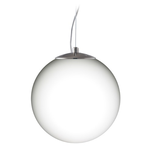 Besa Lighting Besa Lighting Callisto Satin Nickel LED Pendant Light with Globe Shade 1KX-432907-LED-SN