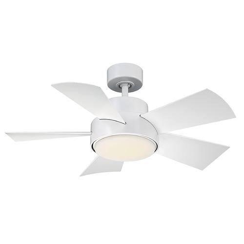 Modern Forms by WAC Lighting Modern Forms Matte White 38-Inch LED Smart Ceiling Fan 2041LM 3000K FR-W1802-38L-MW
