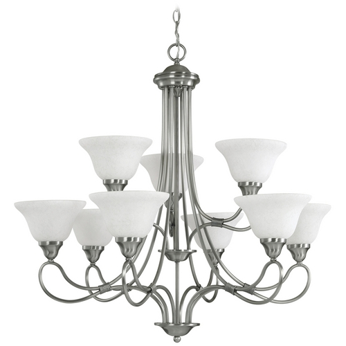 Kichler Lighting Kichler Chandelier with White Glass in Antique Pewter Finish 2558AP