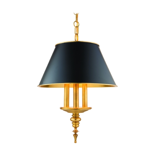 Hudson Valley Lighting Drum Pendant Light in Aged Brass Finish 9521-AGB
