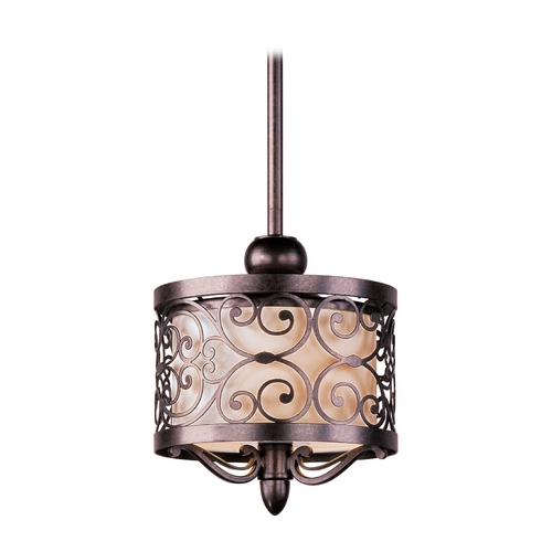 Maxim Lighting Mini-Pendant Light with Beige / Cream Glass 91150WHUB