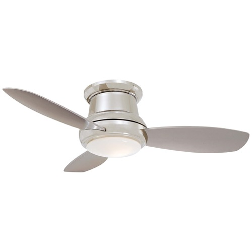 Minka Aire Minka Aire Concept Ii Polished Nickel Ceiling Fan with Light F518-PN