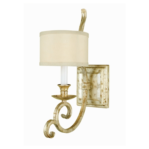 AF Lighting Sconce Wall Light with Beige / Cream Shade in Soft Gold Finish 7902-1W