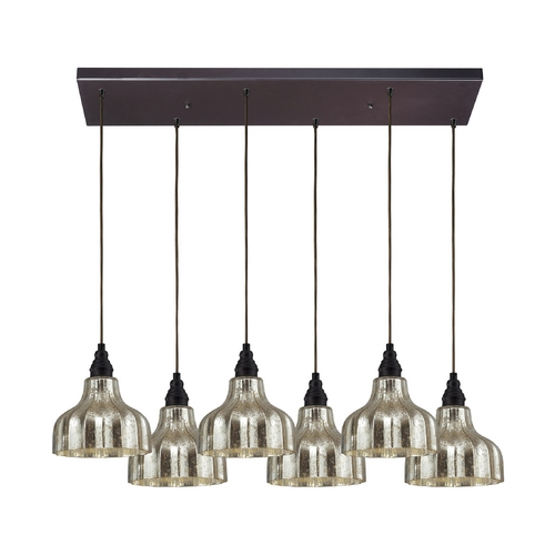 Elk Lighting Multi-Light Pendant Light with Mercury Glass and 6-Lights 46008/6RC