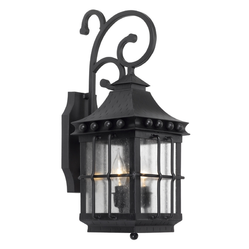 Elk Lighting Outdoor Wall Light with Clear Glass in Espresso Finish 8450-E