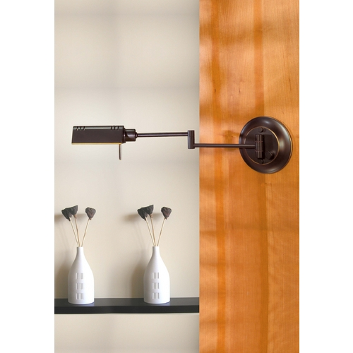 Holtkoetter Lighting Holtkoetter Swing Arm Lamp in Hand-Brushed Old Bronze Finish 8170 HBOB