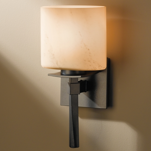 Hubbardton Forge Lighting Hubbardton Forge Lighting Beacon Hall Burnished Steel Sconce 204820-08-H182