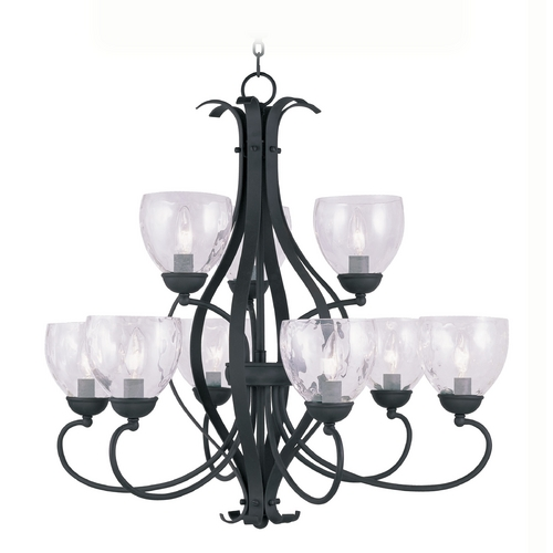 Livex Lighting Livex Lighting Brookside Black Chandelier 4809-04