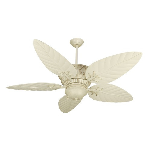Craftmade Lighting Craftmade Lighting Pavilion Antique White Distressed Ceiling Fan with Light K10248