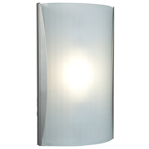 Access Lighting Access Lighting Radon Brushed Steel LED Sconce 62050LEDD-BS/CKF