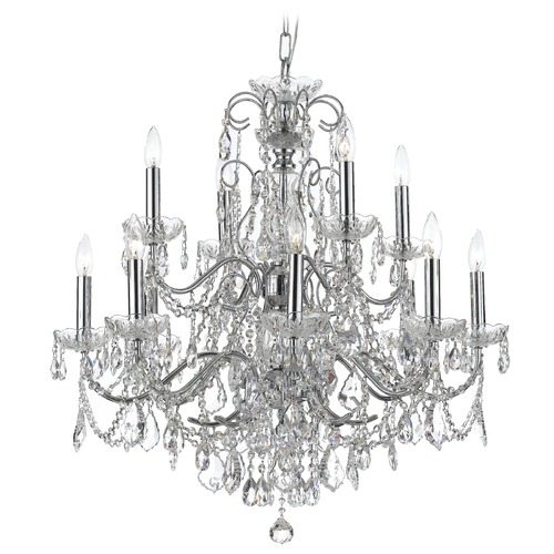 Crystorama Lighting Crystorama Lighting Imperial Polished Chrome Crystal Chandelier 3228-CH-CL-I