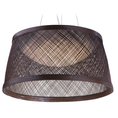 Maxim Lighting Maxim Lighting Bahama Chocolate LED Pendant Light with Bowl / Dome Shade 54376CH