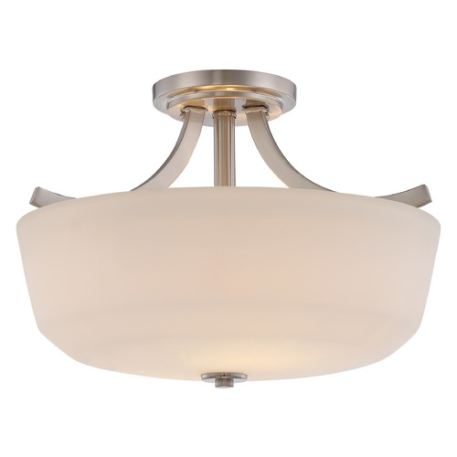 Nuvo Lighting Nuvo Lighting Laguna Brushed Nickel Semi-Flushmount Light 60/5826