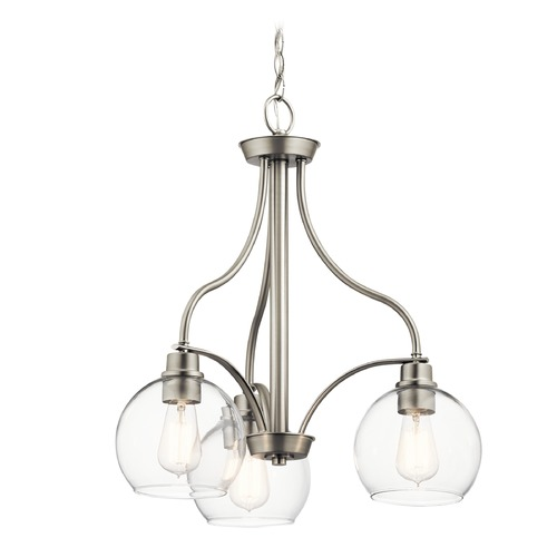 Kichler Lighting Transitional Chandelier Brushed Nickel Harmony by Kichler Lighting 44063NI